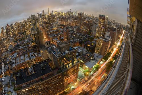 Manhattan Fisheye Evening - 240681586