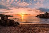 Sunrise on the beach, Saint Raphael, France