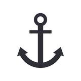 Anchor icon, modern minimal flat design style, vector illustration