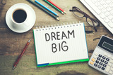 dream big text on notepad - 240697921