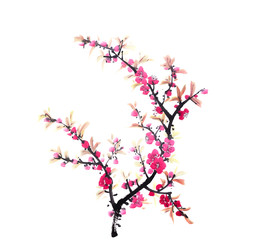Chinese painting of flowers, plum blossom