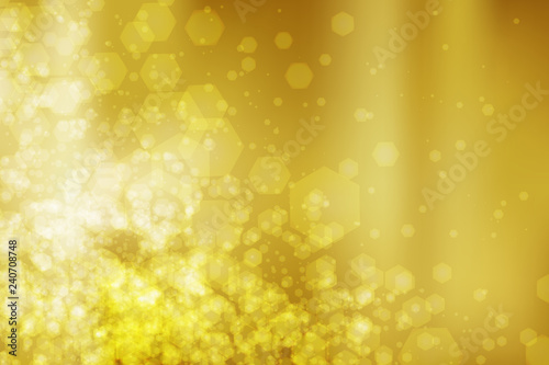 Abstract colorful bokeh and glowing spakling shining particles in random. Lighting effects of flash. Blurred vector background with light glare.
