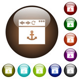 Browser anchor color glass buttons