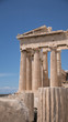 Colonnes et statues sur le site de l'Acropole à Athenes