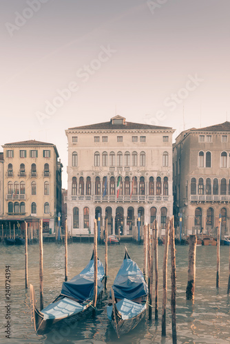 water street with Gondola in Venice, ITALY - 240724394