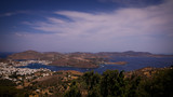 Paysage grec avec des maisons blanches - 240724972