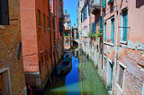 Venetian canal detail in summer