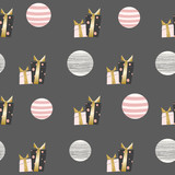 Seamless pattern  in scandinavian style.For fabric, textile. Vector background - 240728966