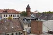 canvas print picture - Alte Dächer mit Wasserturm