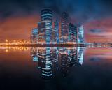 отражения ночного города