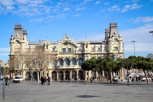 obraz lub plakat Hafengebäude in Barcelona