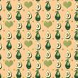 Watercolor avocado pattern - 240756912