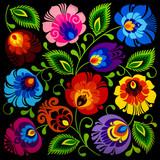 Vintage style of floral pattern background. - 240765952
