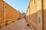 The inner court of the historic edifice in Yazd, Iran