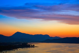 Colorful sunset over Aegean sea, Greece - 240802506