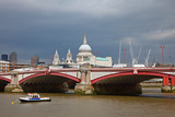 St. Paul Cathedral and Blackfriar's Bridge, London - 240802524