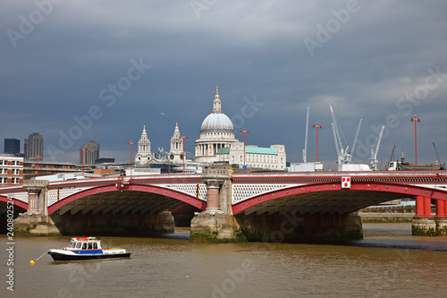 St. Paul Cathedral and Blackfriar's Bridge, London