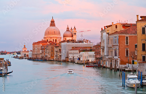 Grand canal at sunset, Venice - 240802556