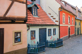 Famous Golden Lane in Prague Castle - 240804156
