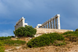 Ruins of Poseidon temple, Cape Sounion, Greece - 240809117