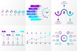 Business Set of Infographics Elements Data Visualization Template Design Vector Editable