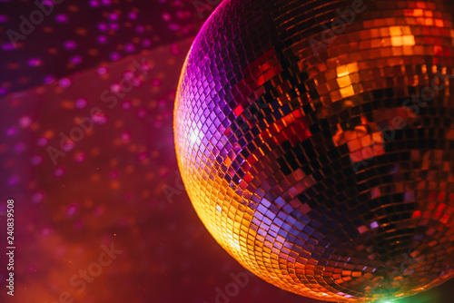 disco ball on abstract background - 240839508