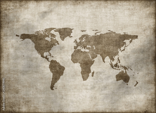 Classic vintage old world map