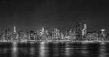 Black and White night Image of New York City