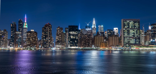 Beautiful night Image of New York City © llhundupl