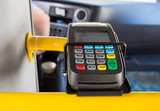 Card terminal with contactless payment support in public transport