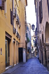Typical street in the ancient center of Padua, Italy © sansa55