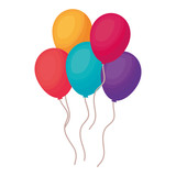 balloons helium floating icon - 240950572
