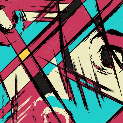 Beautiful abstract graffiti gentle pattern - 240953983