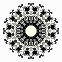 Ornament beautiful pattern with mandala. Geometric circle element made in