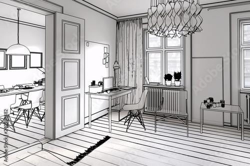 Leinwandbild Motiv My city apartment (preview)