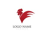 Rooster Logo Template vector illustration design
