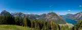 Achensee und Karwendel Gebirge Panorama, Tirol / Österreich