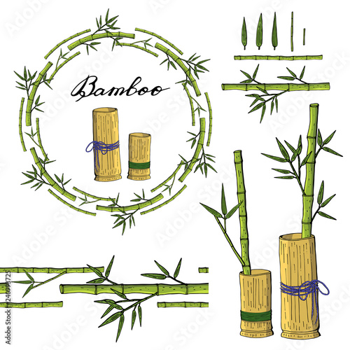 Wreath and seamless brush from bamboo