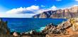Leinwandbild Motiv Amazing nature of Tenerife - impressive rocks of Los Gigantes. Canary islands