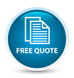 Free quote special prime blue round button