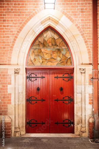 Red Cathedral Door