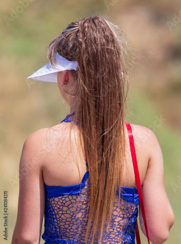 Long hair at the sports girl - 241084311