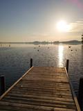 Jezioro. Steinhunder Meer. Wunstorf, Niemcy.