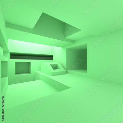 Leinwandbild Motiv Futuristic Architecture Design