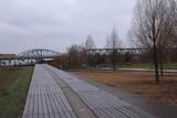Berlin; Schmuddelwetter im Park am Gleisdreieck - 241136515