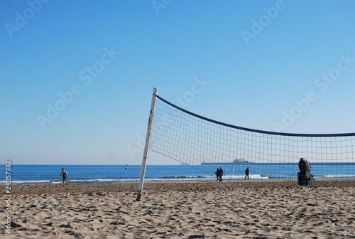 Beach Volley Ball Net, Valencia, Spain