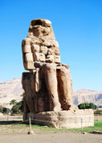 Right colossus of Memnon, Luxor, Egypt