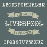 Vintage label typeface - 241199573