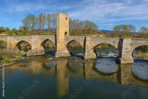 Medieval bridge of Frias, Burgos, Spain