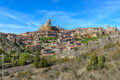 Panoramic view of Frias, medieval village in Burgos, Spain